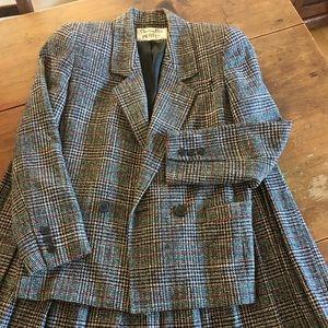 Vintage Christian Dior 80s Tweed Suit